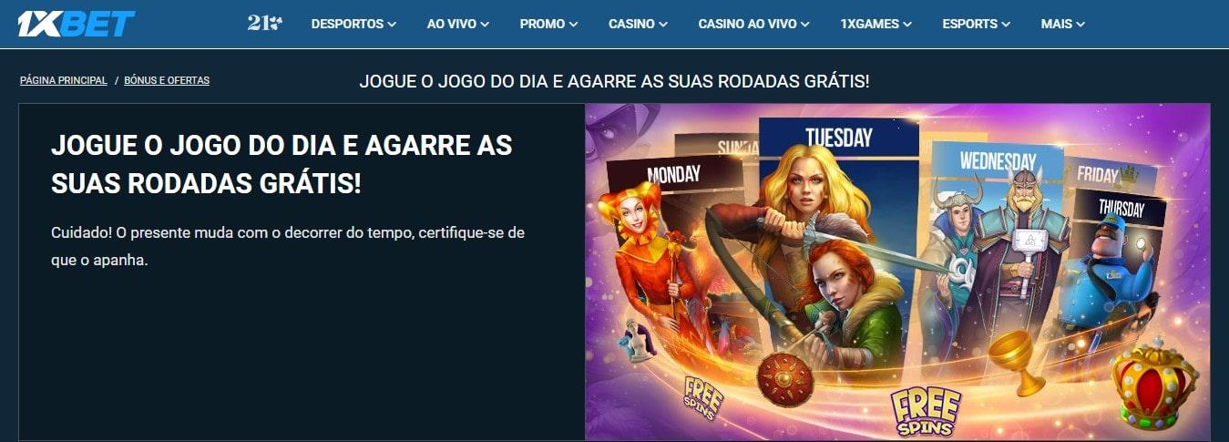 promoção com giros grátis para brasileiros