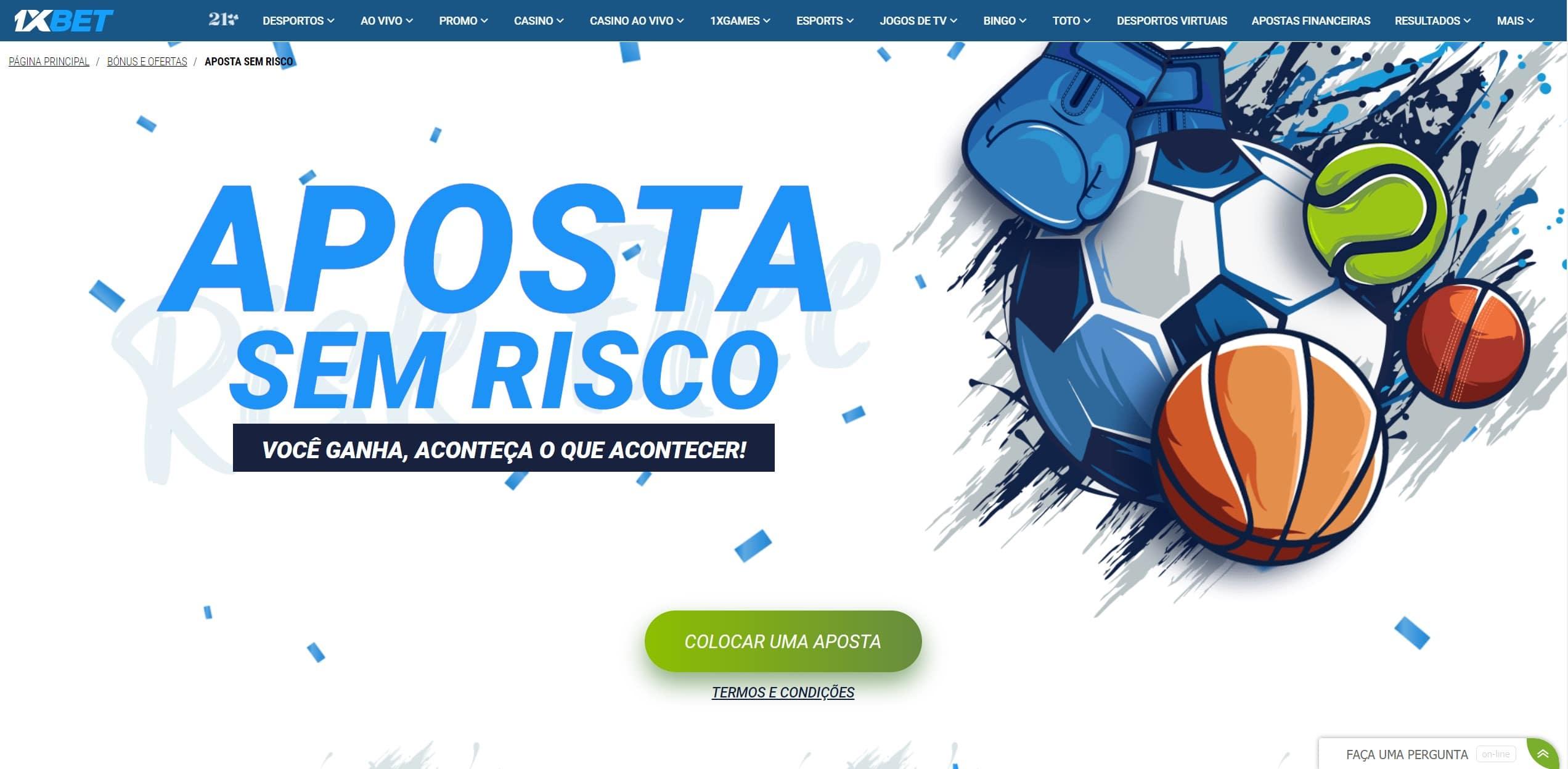 Melhor ação gratuita de risco no Brasil da 1xbet